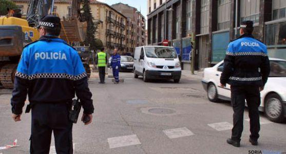 Agentes de la Policía Local de Soria.