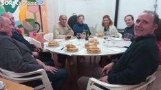 Tortilla y panecillos durante San Blas en Ágreda. Soria Noticias.