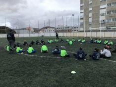 Entrenamiento conjunto entre el CD Gimnasia Soria y el CD San José.