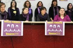 La Asamblea Feminista, antes de leer el comunicado. Bernat Díez.