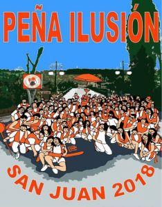 Banderín para San Juan 2018 de la Peña Ilusión.