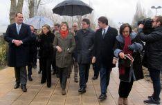 La ministra, en el centro, durante su visita a Salamanca. /EP