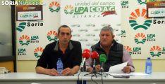 Lorenzo Ramos (dcha.) y Raúl Ramírez este miércoles en Soria. /SN