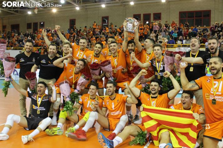 El CV Teruel se adjudica la Copa del Rey en el Pabellón Los Pajaritos, Soria. Bernat Díez.