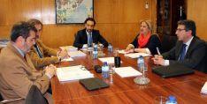 Una imagen de la reunión en el Ministerio.