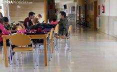 Estudiantes del Campus Duques de Soria en una pausa lectiva. /SN