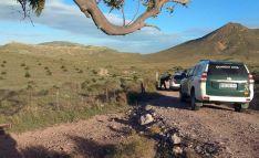 Operativo de la Guardia Civil este domingo en el Valle del Rodalquilar, en Almería. /EP