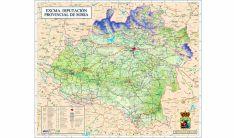 Mapa de la provincia de Soria editado por la Diputación.