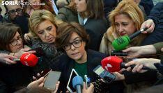 La vicepresidenta del Gobierno, en su visita a Soria el pasado 16 de enero. /SN
