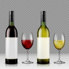 Botellas de vino. Imagen de archivo.