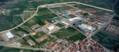 Vista aérea del polígono Emiliano Revilla, en Ólvega.