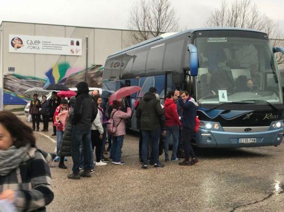 Viaje en bus desde Soria a Alcorcón. CD Numancia.