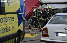 Accidente en la SO20 con 3 víctimas mortales.
