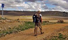 Un peregrino por el itinerario jacobeo.