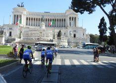 Una de las imágenes de la llegada a Roma.