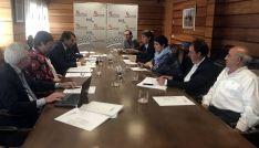 Reunión de la Comisión de Seguimiento de Saneamiento de Soria. /Jta.