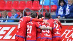 Gol del Numancia en Los Pajaritos. LaLiga