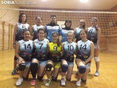 Las féminas del equipo M Juvenil del Río Duero, en una foto de grupo.