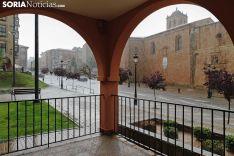 Jornada de lluvia en Soria.