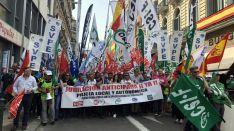 Una imagen de la concentración este miércoles en la capital de España.
