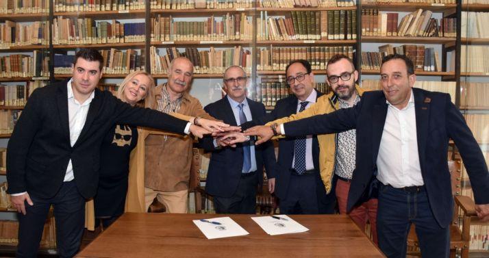 Los firmantes del protocolo. /Jta.
