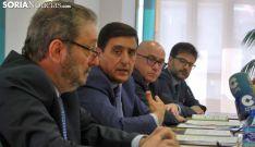 Enrique Domínguez, Carlos Martínez Izquierdo, Domingo Barca y Eduardo Munilla este martes. /SN