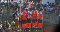 Voluntarios de Cruz Roja Soria este domingo de La Compra. /SN