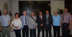 Responsables de las Casas regionales, con el presidente de la Diputación (4º dcha.). /Dip.)