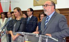 Miguel Latorre, durante el discurso de investidura. /SN