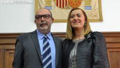 Virginia Barcones y Miguel Latorre este jueves. /SN