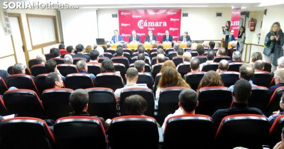 Un acto celebrado en el salón de actos de la instutición cameral. /SN