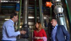 Alberto Gómez, director gerente de Rebi (izda.), Virgina Barcones y Miguel Latorre. /SN