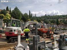 Obras en el cemenerio de Soria. SN