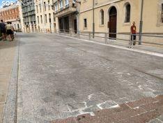 Estado actual de la calle San Juan de Rabanera. SN