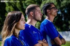 María Uriel, Sergio Paz y Guillermo González, en un primer plano. David Almajano