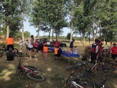 Vía Verde en Soria. Marcha ciclista.