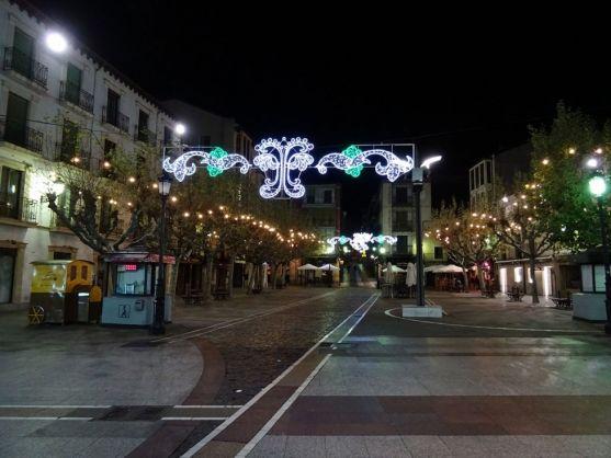 Ilumnación navideña en el centro de la capital soriana.