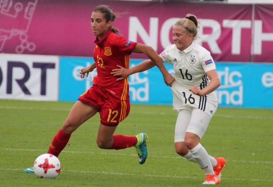 Lucía Rodríguez, con España. Real Federación Española de Fútbol