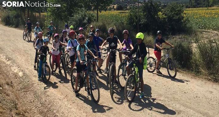 Participantes en el programa estival para pequeños en Ólvega.