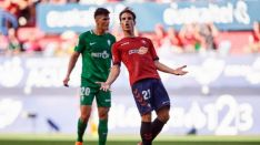 Íñigo Pérez, jugador de Osasuna, se enfrenta a su exequipo, el CD Numancia. LaLIGA