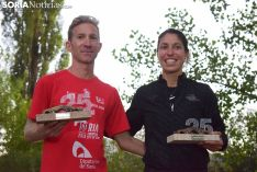 Luis Gonzalo Miguel y Belén Íñigo Romera, ganadores de la XXV Carrera Soria-Valonsadero