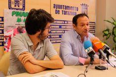 El responsable de Prensa y Redes Sociales de Pinares Cup, Bernat Díez, y el El primer teniente de alcalde de Tarazona, Luis José Arrechea. Ayuntamiento de Tarazona