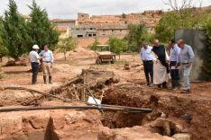 Juan Pascual, alcalde de Santa María de Huerta, lamenta la inacción de la Confederación Hidrográfica del Duero por no intervenir en el cauce del Jalón. Diputación