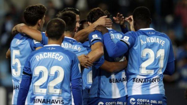 El 1-0 del Málaga en La Rosaleda ante el Numancia. LaLiga