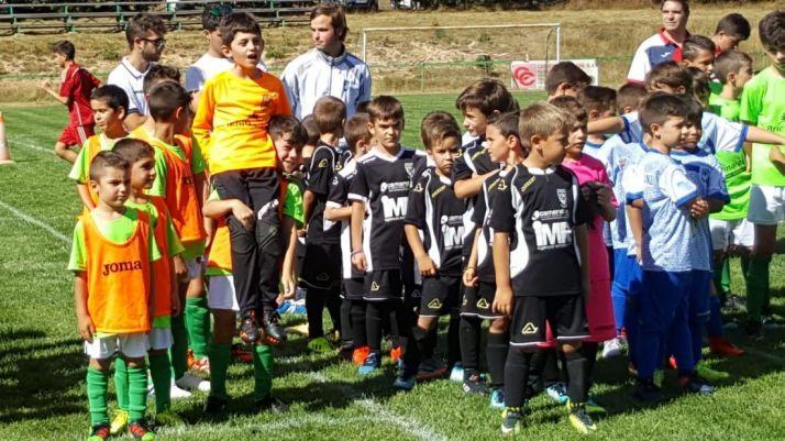 La SD Golmayo-Camaretas durante su participación en la Pinares Cup de Abejar. Pinares Cup