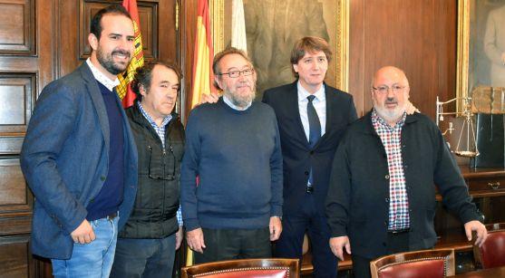 De izquierda a derecha: Hernández, Irigoyen, De la Casa, C. Martínez y A. Martínez