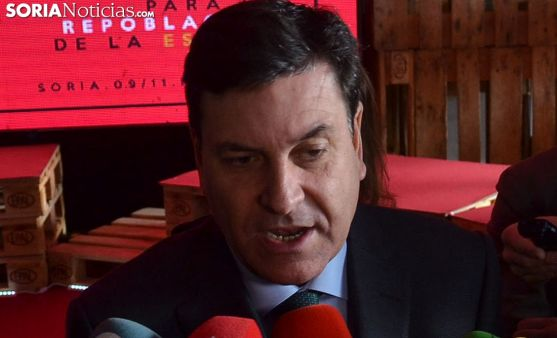 Carlos Fernández Carriedo, consejero, en una imagen del viernes pasado en Soria. /SN