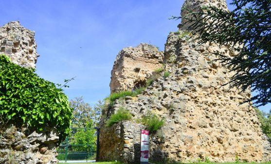 Restos de la muralla y el Castillo.