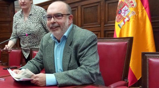 Miguel Latorre, esta tarde de lunes en rueda de prensa. /SN