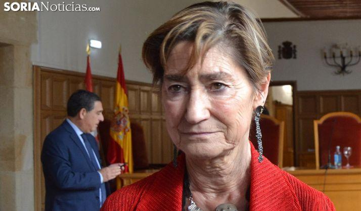 Victoria Ortega, este viernes en Soria. /SN